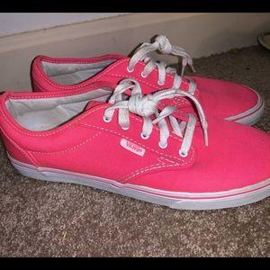 Hot Pink Vans size 8